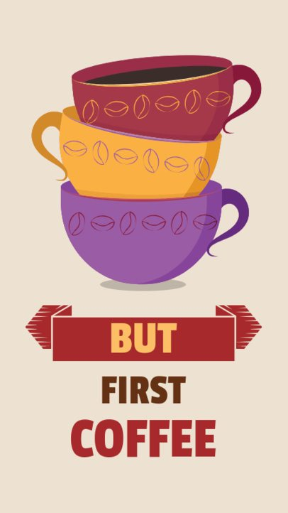 Insta Story Maker with Stacked Coffee Cup Graphics 585d