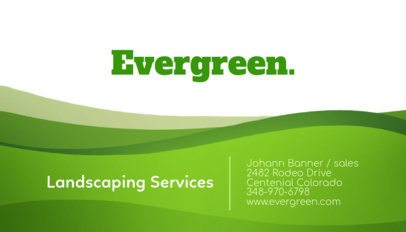 Business Card Template for a Landscaping Services Company 656b