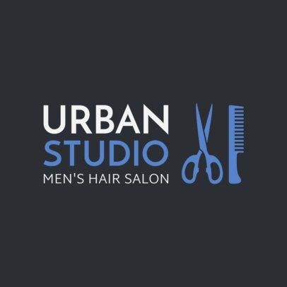 Men's Hair Salon Logo Maker 1470c