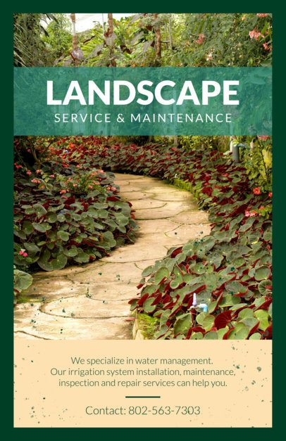 Flyer Maker for Landscaping Business with Images 697