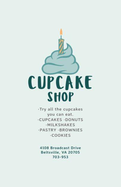 Cupcake Shop Online Flyer Maker 496d