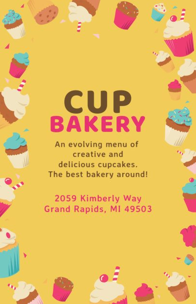Cupcake Bakery Flyer Design Maker 496e