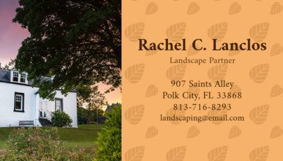Business Card Maker for Landscape Partners 658e
