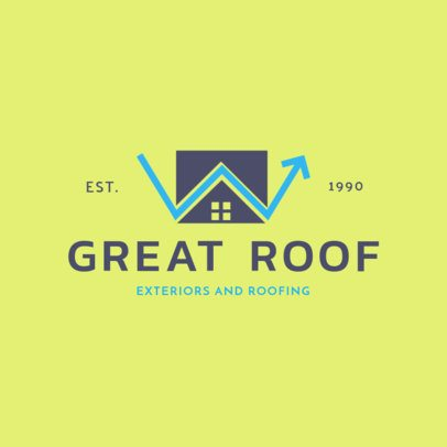 Exteriors and Roofing Logo Maker 1481d