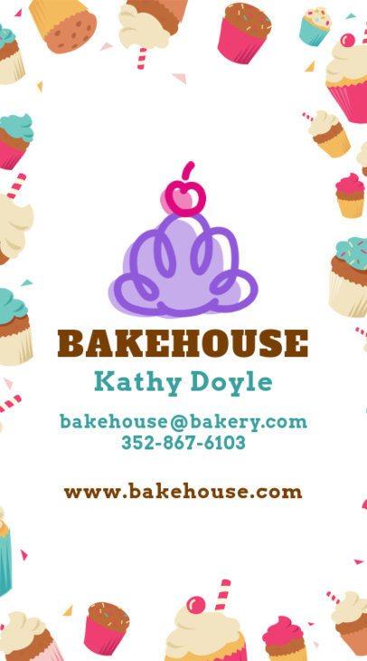 Fun Bakery Business Card Design Template 495c
