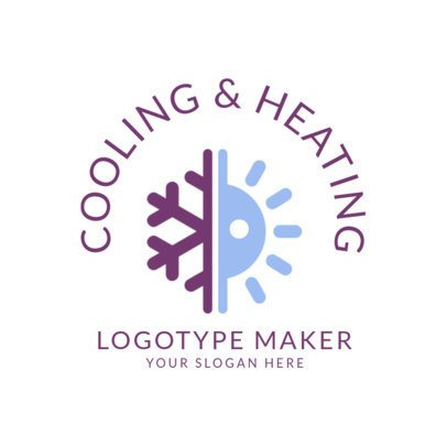 Heating and A/C Logo Design Template  1505