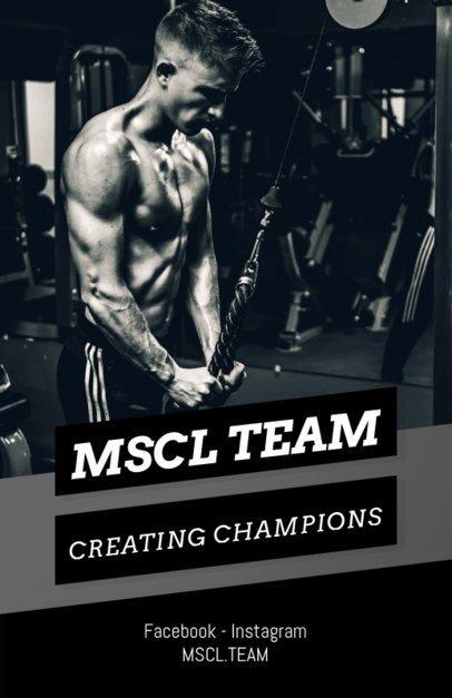 Bodybuilding Training Flyer Template 696e