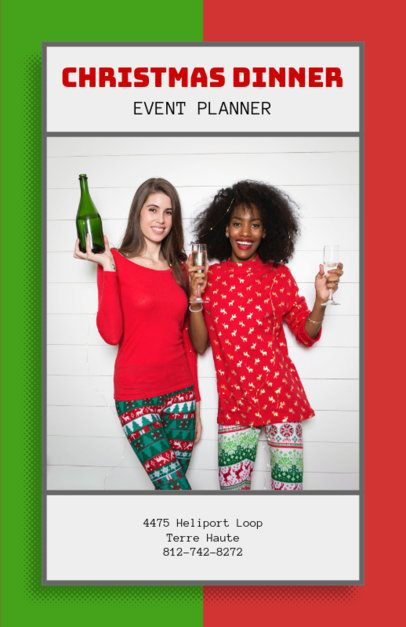 Holiday Party Planner Flyer Template 718b