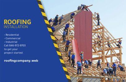 Horizontal Flyer Maker for Roofing Installation Services 735b