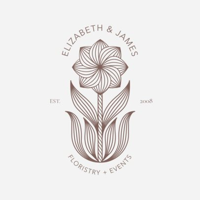 Floristry and Events Logo Template 1269d