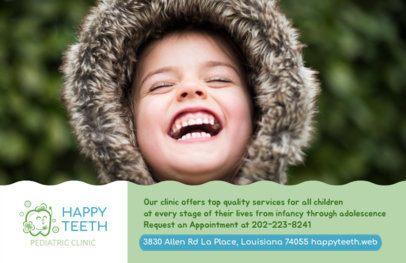 Flyer Design Template for Pediatric Dental Clinic #489c