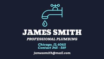 Professional Plumbing Business Card Maker 664b