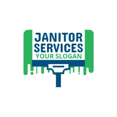 Local Janitorial Services Logo Generator 1446a