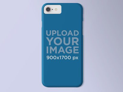 Mockup of an iPhone Case on a Solid Surface 23155