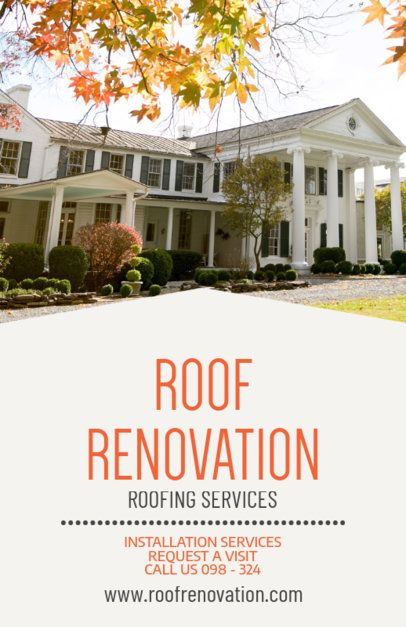 Online Flyer Template for a Roof Renovation Business 708e