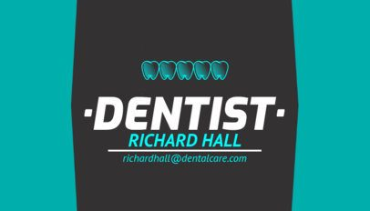 Simple Dentist Business Card Template 558c
