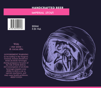 Craft Beer Label Design Maker for a Stout Beer 763e