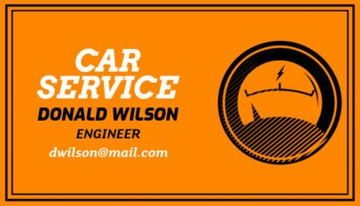 Car Service Business Card Maker for an Automotive Engineer 557b