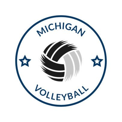 Volleyball Logo Design Template with a Creative Volleyball Icon 1511c