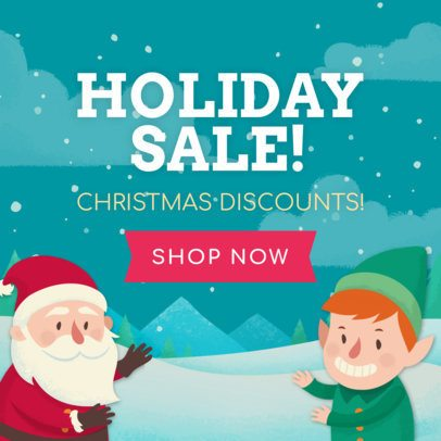 Christmas Banner Maker for a Holiday Sale 783