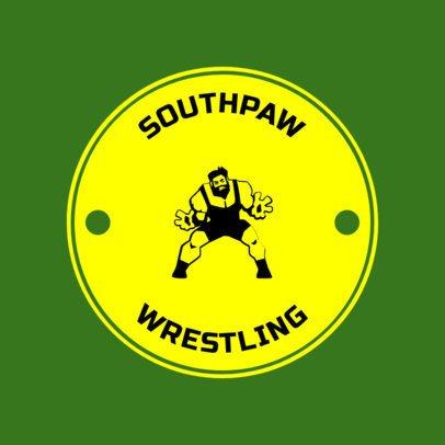 Wrestling Logo Design Template 1537e