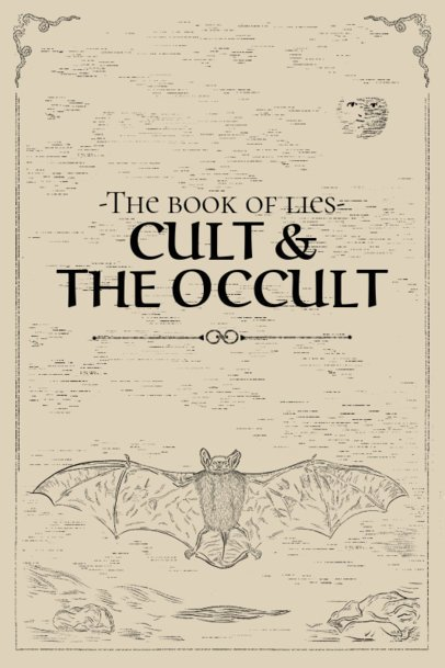 Book Cover Template for Cult Genre 539e
