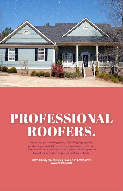 Professional Roofing Company Flyer Maker 739d-1819