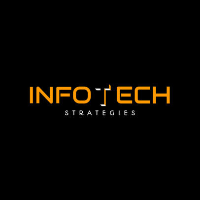 Abstract Logo Design Template for Tech Corporations 1528b