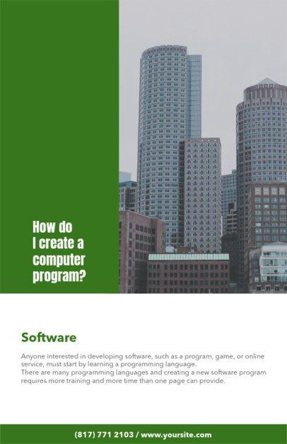 Online Flyer Maker for Software Conferences 98d