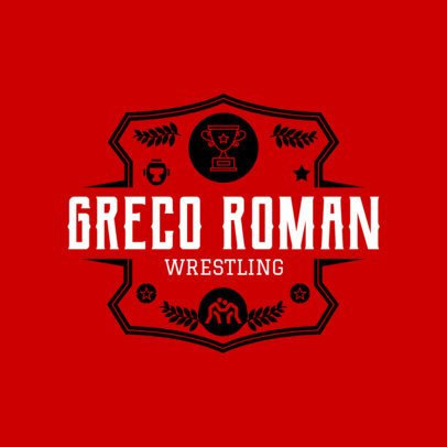 Greco-Roman Wrestling Logo Template 1539d