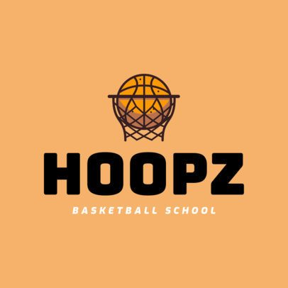 Basketball School Logo Maker 1498a