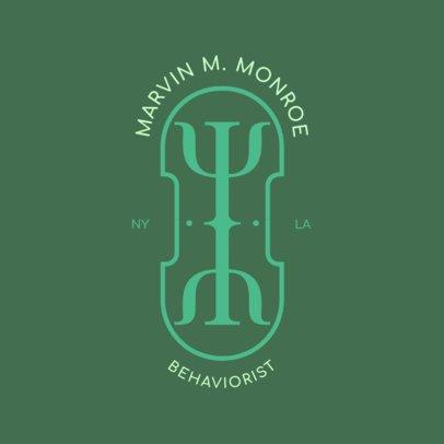 Therapist Logo Maker for a Behavioral Psychologist 1522e