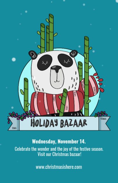 Holiday Bazaar Flyer Template for Christmas 868b