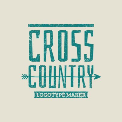 Cross Country Logo Template for XC Teams 1565e