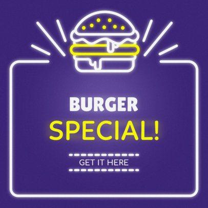 Online Banner Maker with Neon Burger Sign #311c