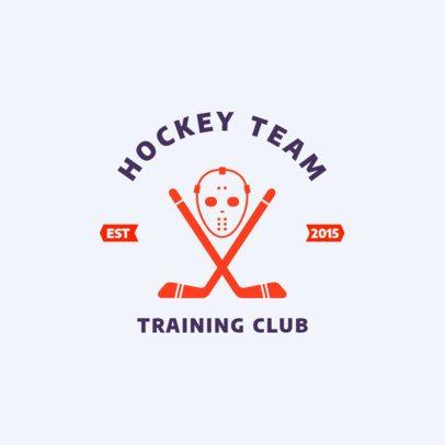 Hockey Team Training Club Logo Creator 1563b
