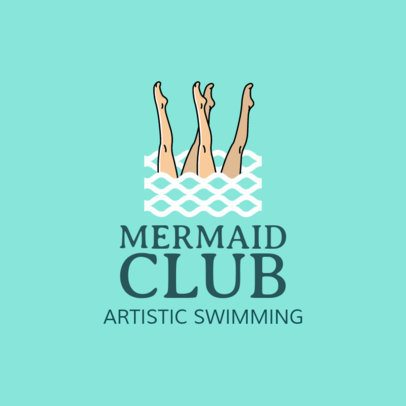 Artistic Swimming Logo Maker 1576a