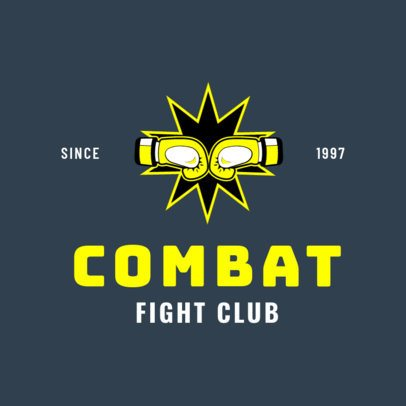 Boxing Logo Maker for a Fight Club 1580c
