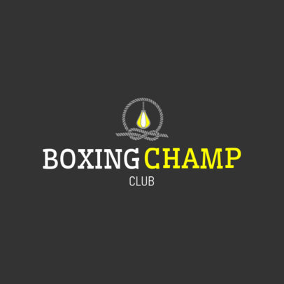 Boxing Club Logo Maker with Speed Bag Icon 1583d