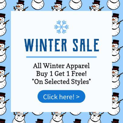 Ad Template for a Winter Sale 775a