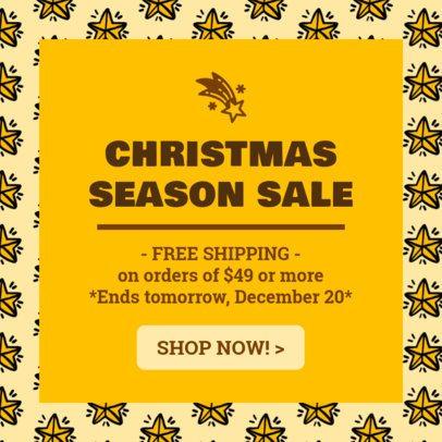 Christmas Season Sale Ad Maker 775d