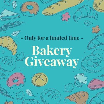 Online Banner Maker for Baker's Shops with Pastry Illustrations 378e