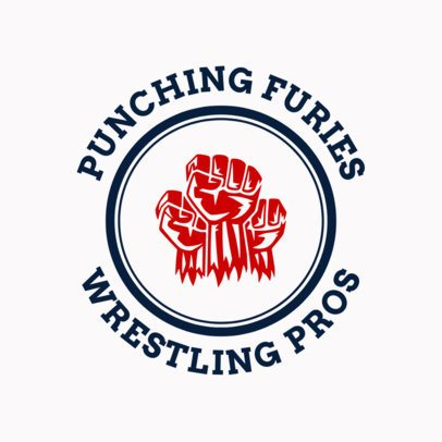 Wrestling Logo Template with Fists Graphic 1541c