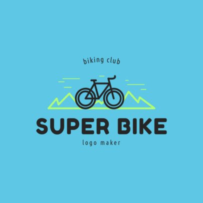 Super Bike Logo Creator for Mountain Biking Club 1574a