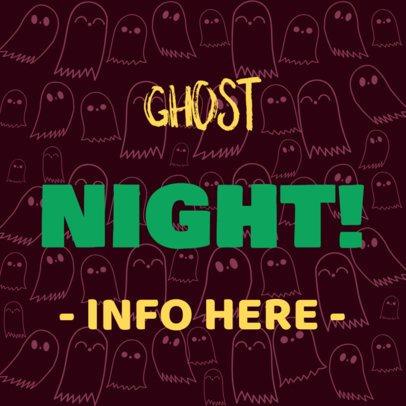 Fright Night Banner Design Template for Halloween 288b