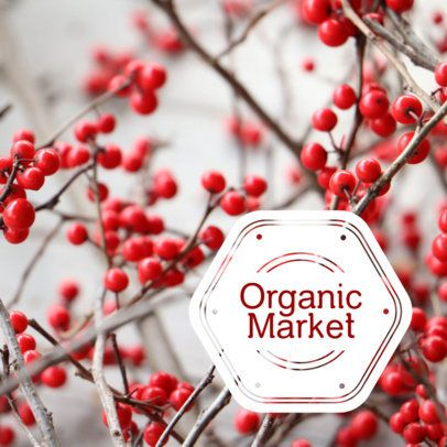 Chic Banner Creator for an Organic Market 16586d