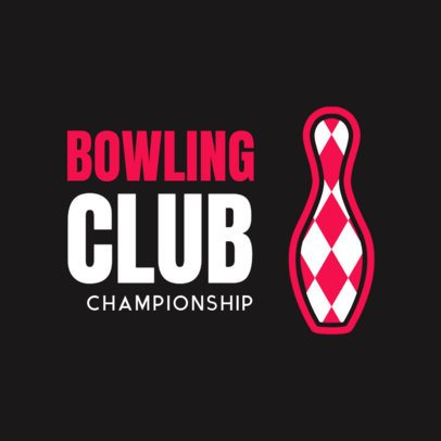 Bowling Logo Maker for Bowling Championships and Tournaments 1588e