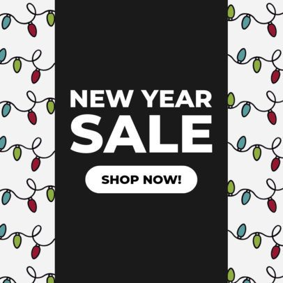 Ad Banner Maker to Design a New Year Sale Banner 784f