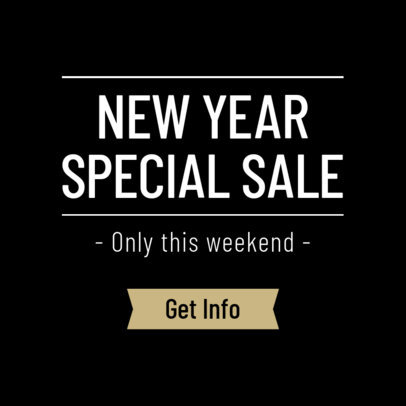 Banner Maker for a New Year Online Ad 751f