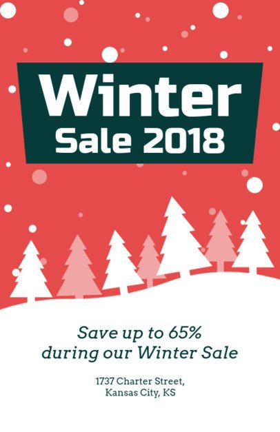 Holiday Flyer Generator for a Winter Sale 862d-1819